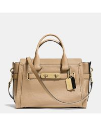 COACH - Metallic Swagger Carryall In Colorblock Leather - Lyst
