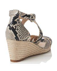 L.K.Bennett Natural Priya Wedge Heeled Sandals