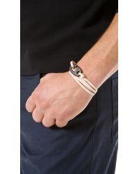 Miansai Natural Brummel Hook Noir Bracelet for men