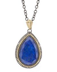 Armenta - Blue Lapis Doublet Diamond Enhancer - Lyst