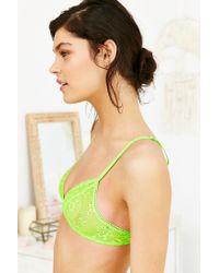 Deborah Marquit   Green Ballet Lace Bra   Lyst