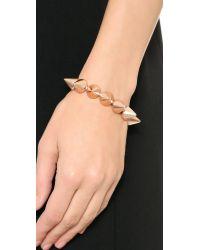 Eddie Borgo Metallic Cone Bracelet Matte Rose Gold