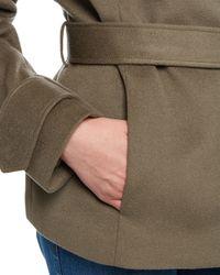Jaeger | Gray Wool Funnel Neck Coat | Lyst