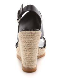 Steven by Steve Madden Black Stunner Espadrille Wedge Sandals Natural