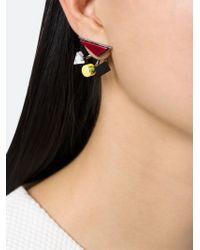 Eshvi | Multicolor 'back To School' Earrings | Lyst