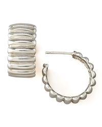 John Hardy - Metallic Bedeg Silver Hoop Earrings - Lyst