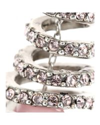 Oscar de la Renta Pink Coral Spiral Earrings