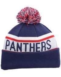 KTZ | Blue Florida Panthers Biggest Fan Pom Knit Hat for Men | Lyst