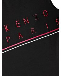 KENZO Black Sleeveless Cotton Jersey T-Shirt
