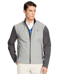 Pink Pony Gray Polo Golf By Core Breaker Jacket for men