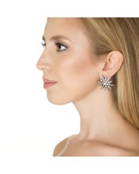 Elizabeth Cole | Metallic Starburst Earrings | Lyst