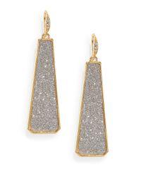 ABS By Allen Schwartz | Metallic Glitter Drop Earrings | Lyst