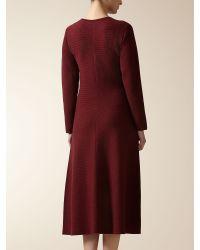 Jaeger - Purple Merino Flare Hem Knitted Dress - Lyst