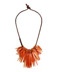 Donna Karan | Brown Necklace | Lyst