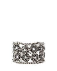 Forever 21 | Metallic Etched Faux Stone Hinge Bracelet | Lyst