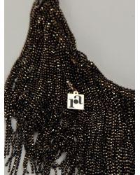 Rosantica | Black 'supernova' Beaded Fringe Necklace | Lyst