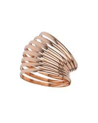 TOPSHOP - Pink Rose Gold Bangle Pack - Lyst