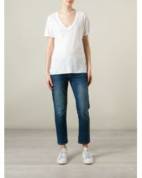 Bliss and Mischief White Loose Fit T-Shirt