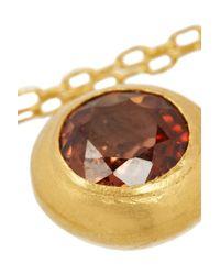 Munnu Red 22-Karat Gold Spinel Pendant Necklace