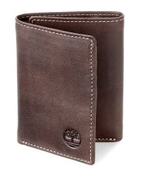 Timberland Brown Cloudy Tri-Fold Wallet for men
