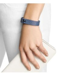 Tory Burch Blue For Fitbit Silicone Printed Bracelet