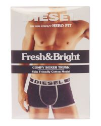 DIESEL Black Hero Cotton Trunk for men