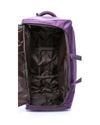 "Lipault - Purple Foldable 2 Wheeled 30"" Duffel Bag - Navy - Lyst"