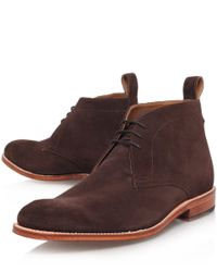 Foot The Coacher Brown Marcus Suede Desert Boots for men