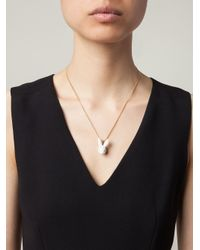 Andres Gallardo - White Rabbit Head Pendant Necklace - Lyst