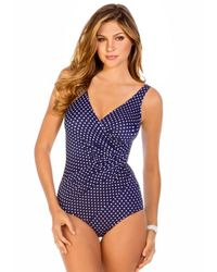 Miraclesuit | Blue Oceanus Dippin Dots Swimsuit | Lyst
