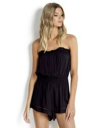 7fc910517e Seafolly Spice Temple Playsuit in Black - Lyst