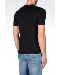 Emporio Armani | Black Short-sleeve T-shirt for Men | Lyst