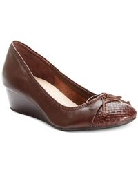 Cole Haan - Brown Women'S Tali Lace Wedges - Lyst