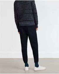 Zara | Blue Cotton Knit Trousers for Men | Lyst