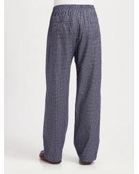 Derek Rose - Blue Flannel Lounge Pants for Men - Lyst