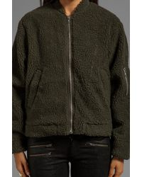 Cheap Monday Teddy Bomber in Green