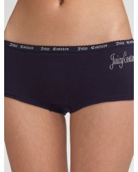 Juicy Couture Black Queen Of Sleep Boyshort