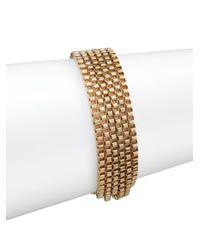 Anne Klein | Metallic Fair Lady Multi-row Bracelet/goldtone | Lyst