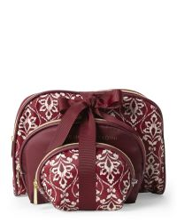 Adrienne Vittadini - Brown 3-Piece Floral Dome Cosmetic Bag Set - Lyst