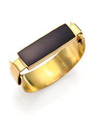 Aesa | Little Reeve Black Onyx Cuff Bracelet | Lyst