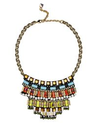 Nocturne | Metallic 'jez' Frontal Necklace | Lyst
