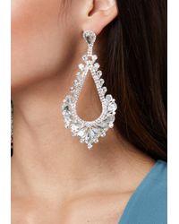 Bebe Metallic Glam Teardrop Earrings