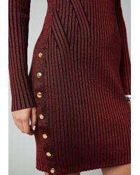 Bebe Red Cold Shoulder Sweater Dress