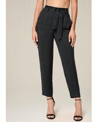 Bebe | Black Petite Cargo Pocket Pants | Lyst