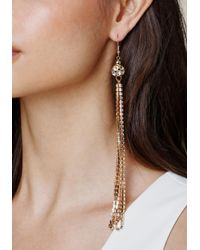 Bebe - Metallic Fireball Duster Earrings - Lyst