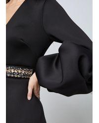 Bebe - Black Alexis Drama Sleeve Dress - Lyst