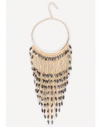 Bebe - Metallic Bead & Snake Chain Necklace - Lyst