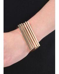 Bebe - Metallic Stacked Metal Cuff - Lyst