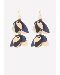 Bebe - Blue Petal Cluster Drop Earrings - Lyst