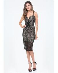 Bebe | Black Sheila Lace Dress | Lyst